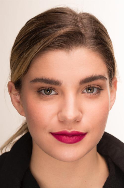 beautiful girl red lips