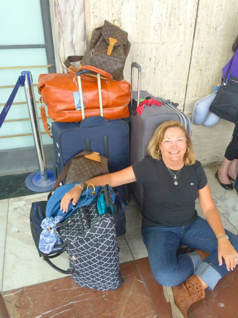 too much luggage in florence