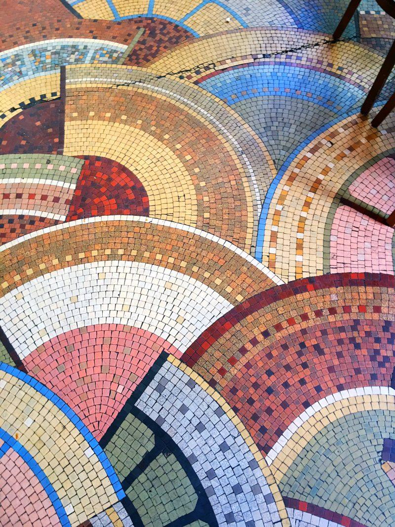 mosaic floor Cafe Benjamin, Paris