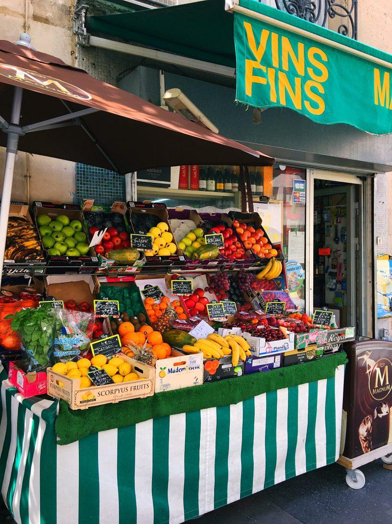Paris fruit shop