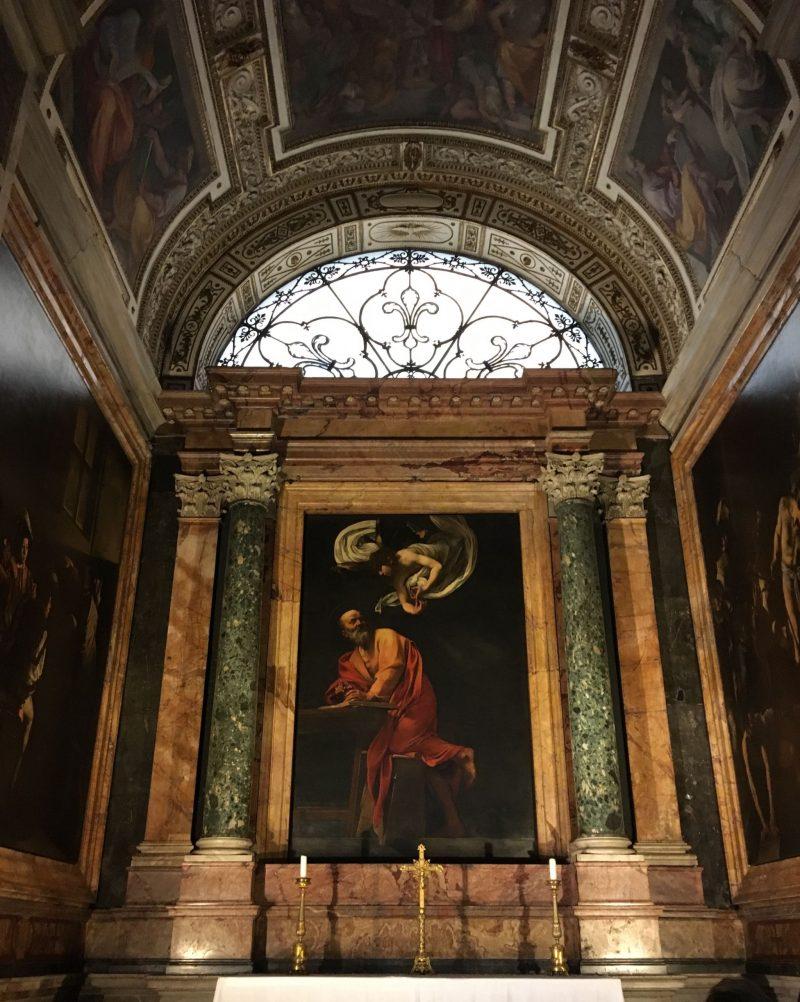 Caravaggio St Matthew and the Angel, Rome