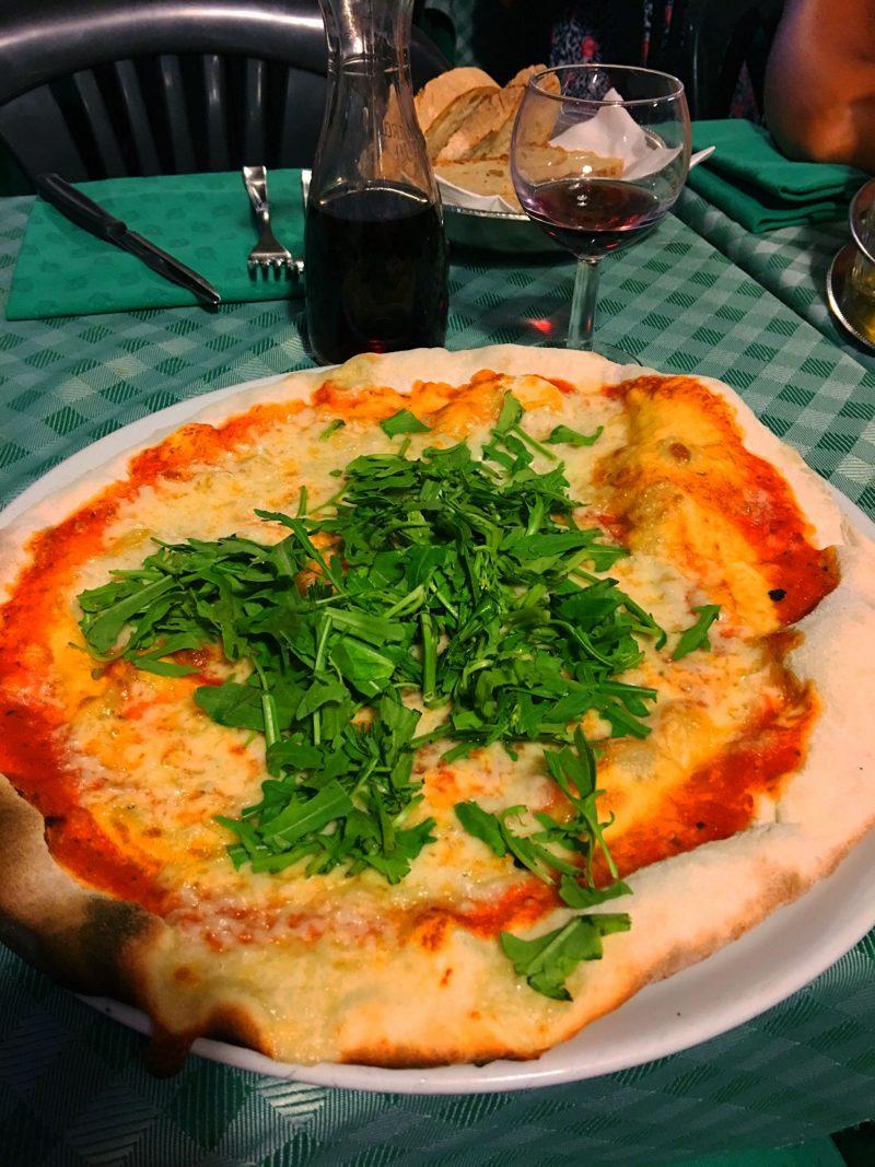 Pizza at Carlo Mente, Trastevere, Rome