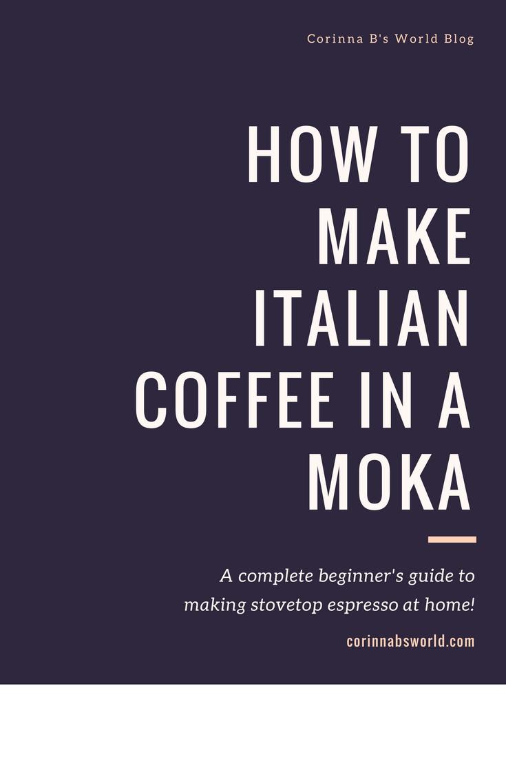 stovetop espresso how to use a moka