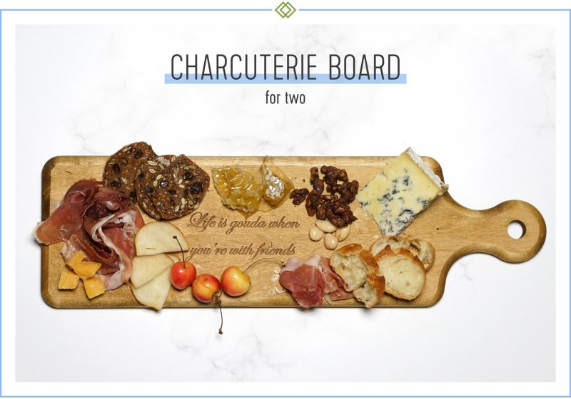 charcuterie board for two