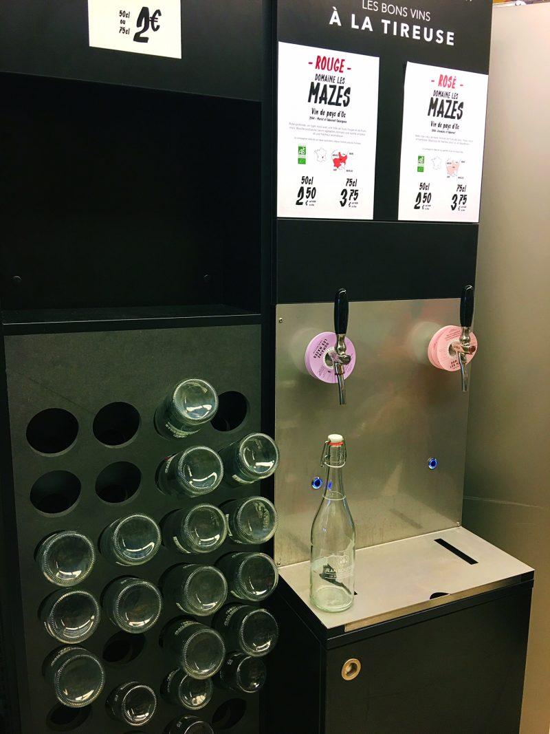 Monoprix wine dispenser