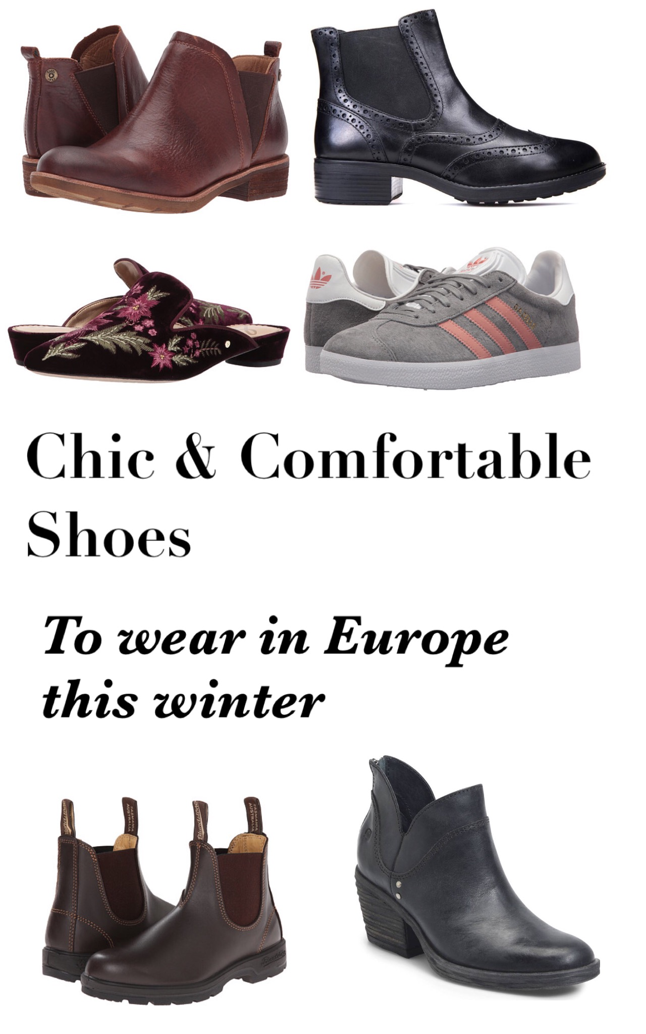 boots and shooes for Europe this winter
