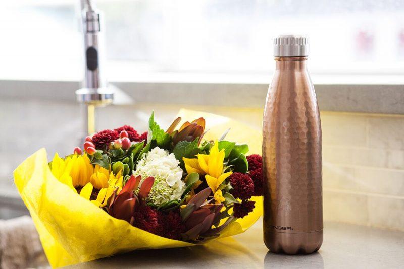 godinger stainless steel water bottle