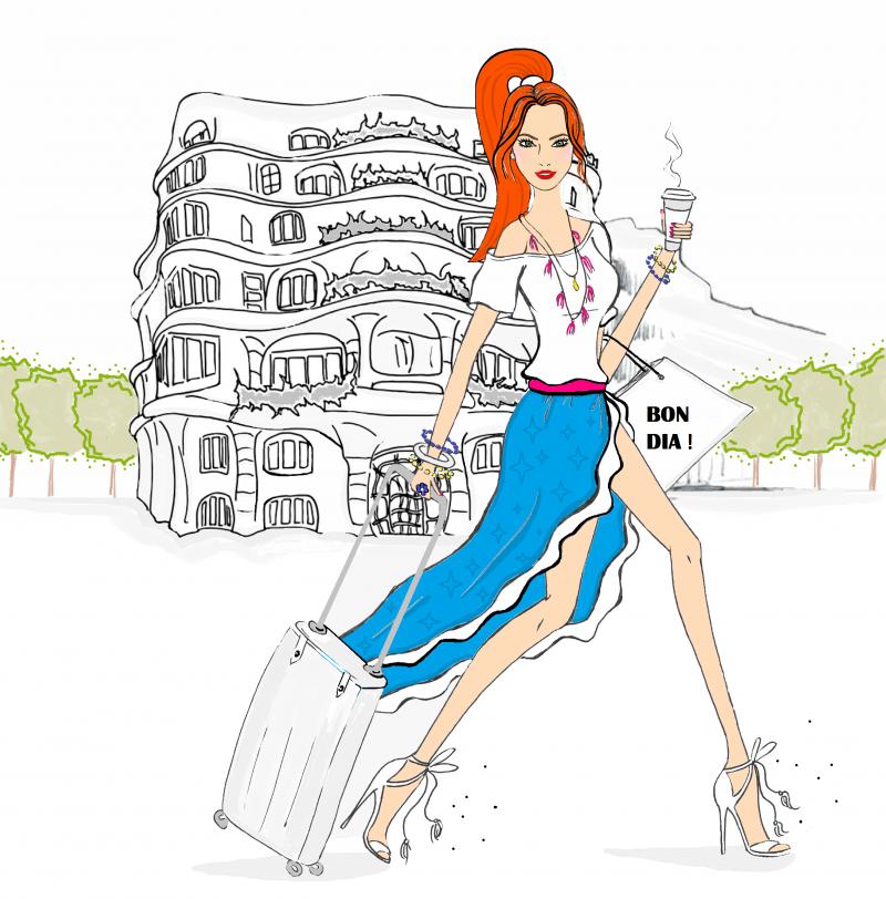 barcelona fashion illustration