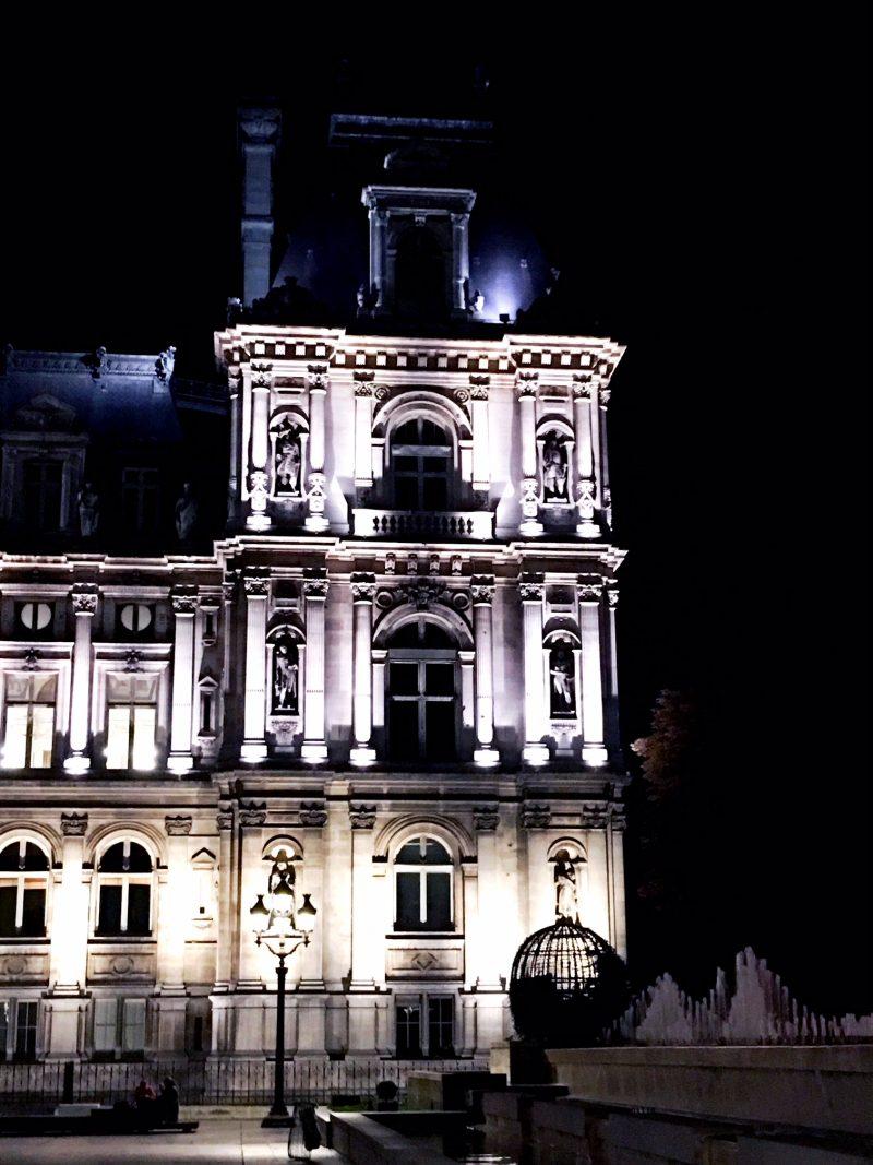 Paris Hotel de Ville at night