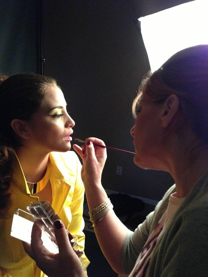 makeup artist photo shoot