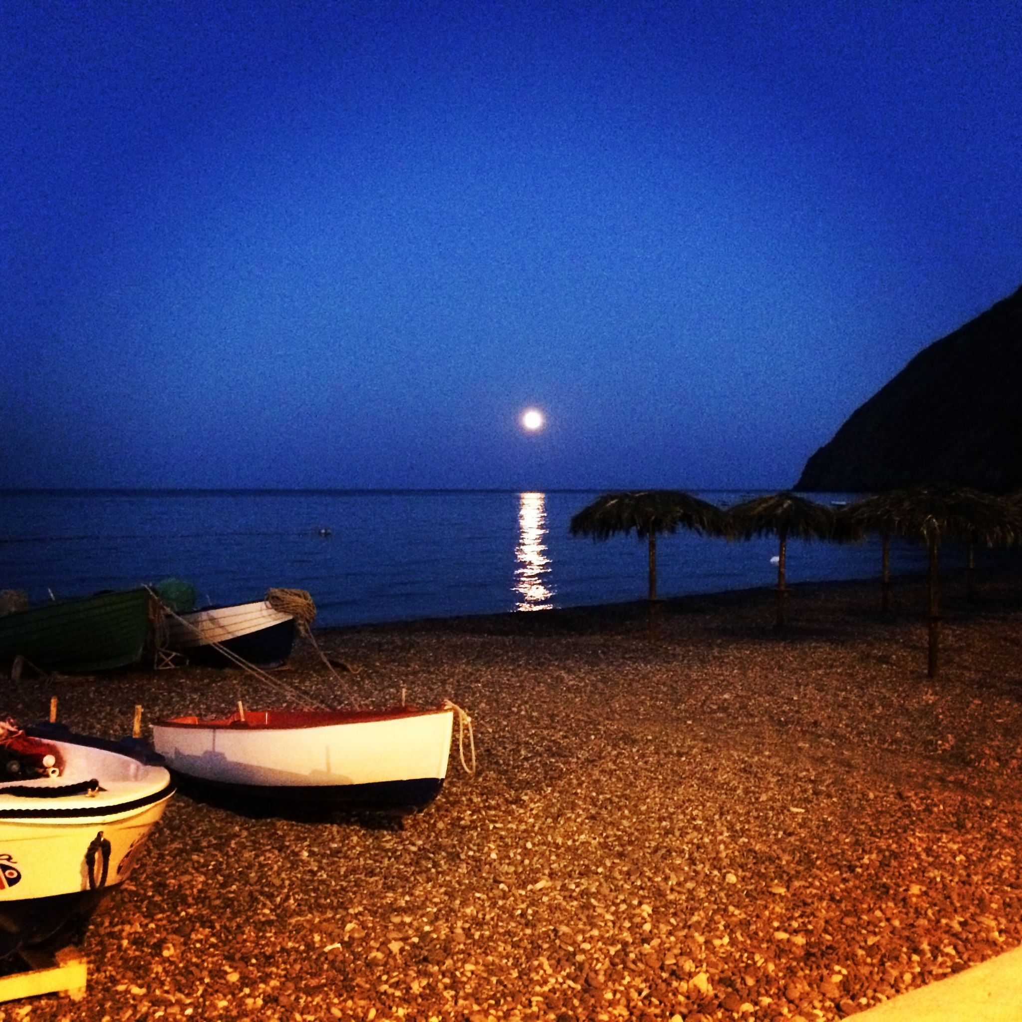 lipari at night
