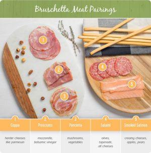 bruschetta meat pairings