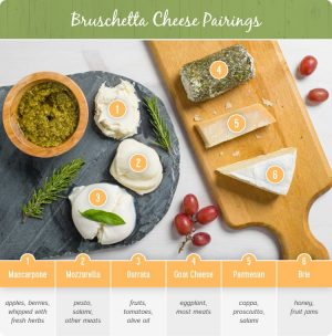 bruschetta cheese pairings