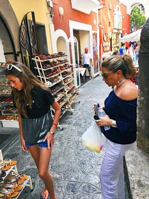 shopping in Positano