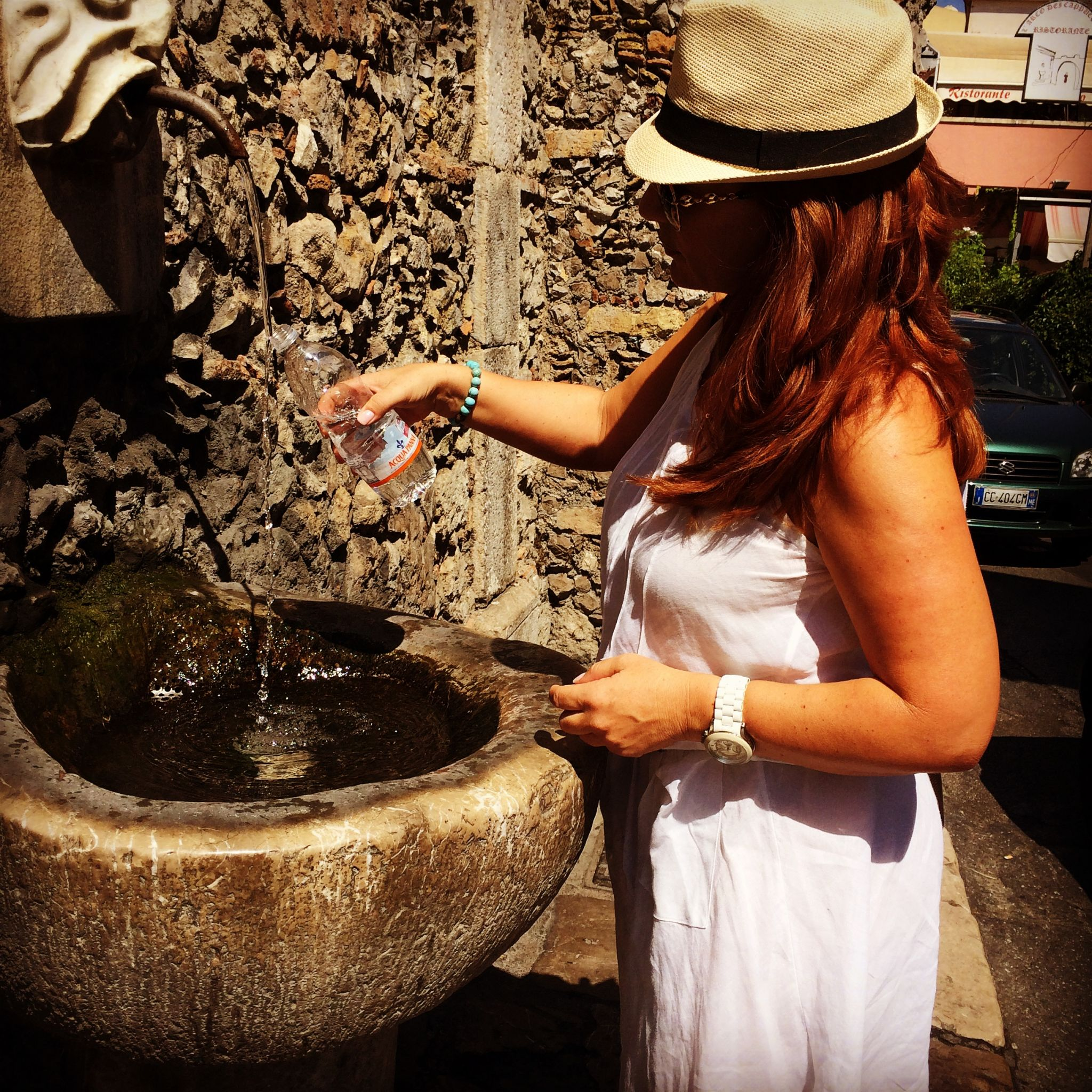 water fountain Taormina