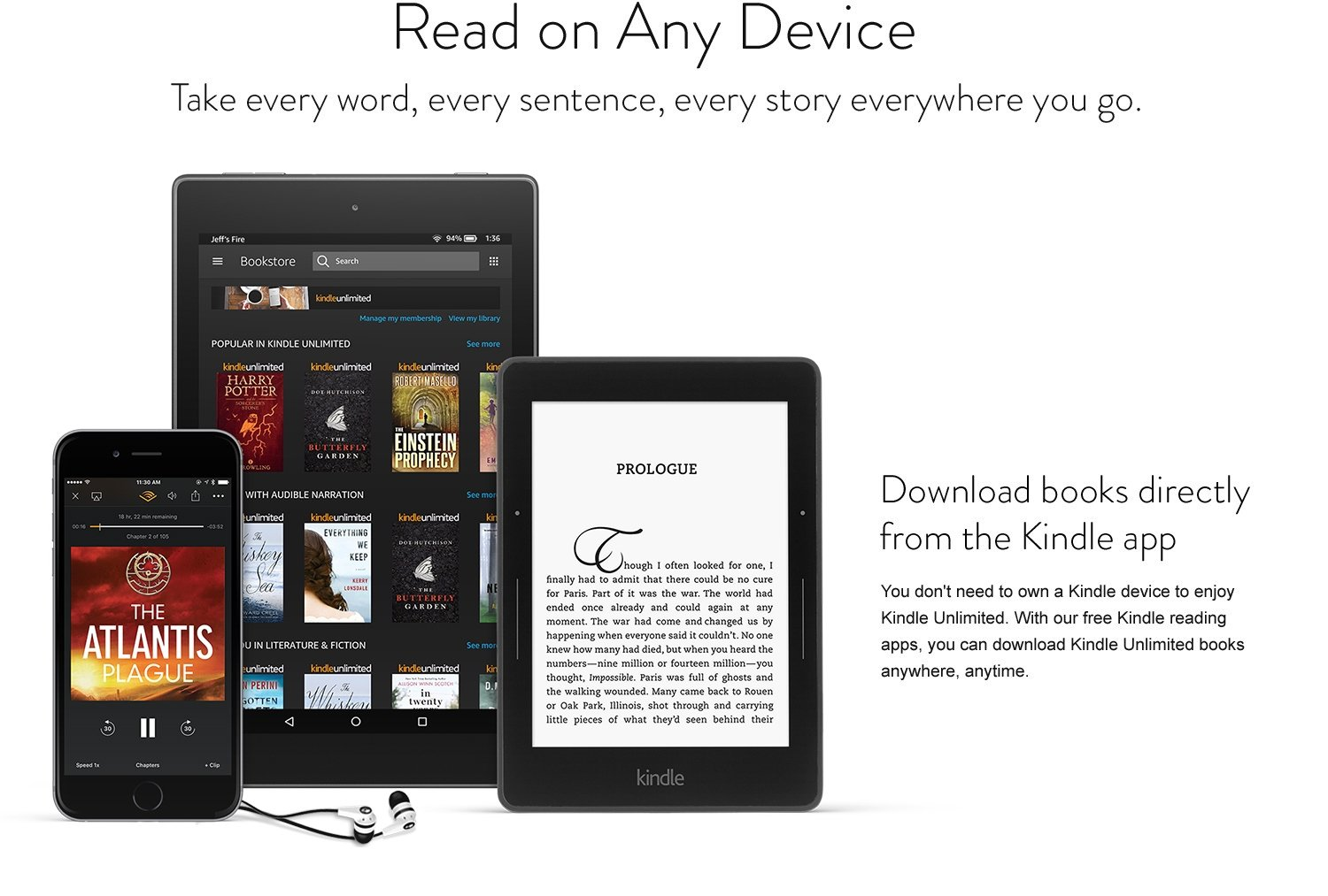 kindle app and devices