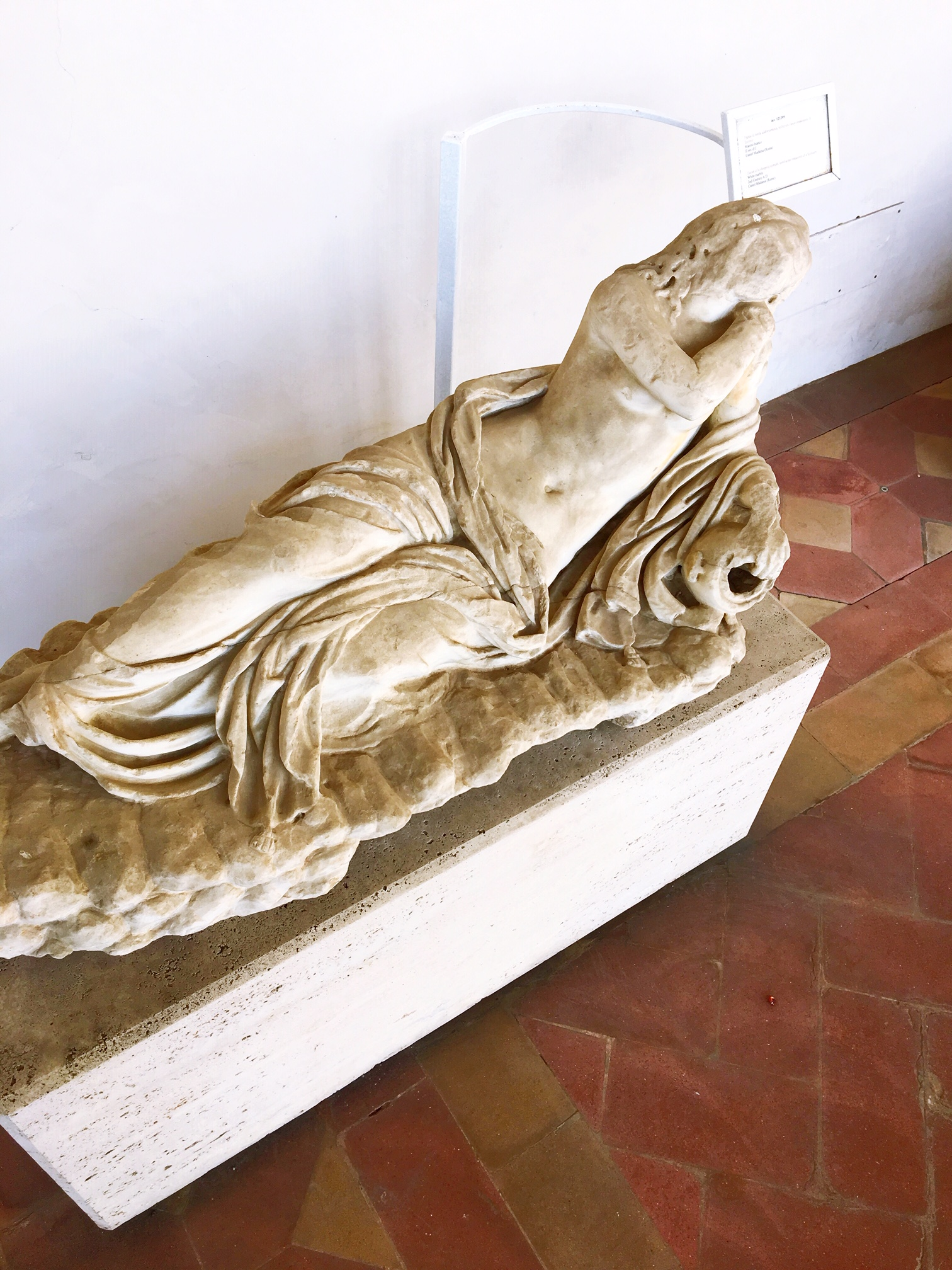 Statue of a water nymph from a 2nd century fountain. Found at the Baths of Diocletian in Rome