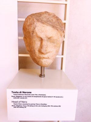 Bust of Nero from the 1st century A.D, at the Baths of Diocletian in Rome