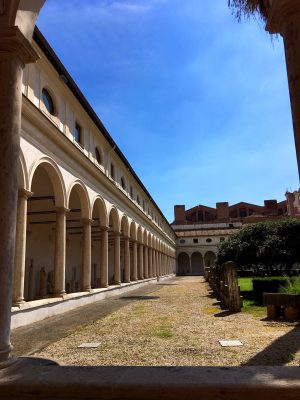 Cloisters at the Baths of Diocletian in Rome