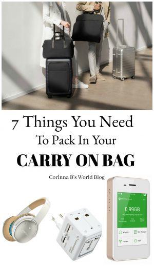 Here are 7 things you need to pack in your carry on for any international flight. Don't get stuck without them!