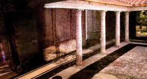 The multi media installation at the Roman Houses at Palazzo Valentini in Rome shows you how the houses would have looked back in the 2nd century A.D.