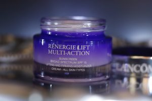 One of Lancome's most beautiful skin care products: Advanced Genifique serum and Renergie Lift Multi Action Cream