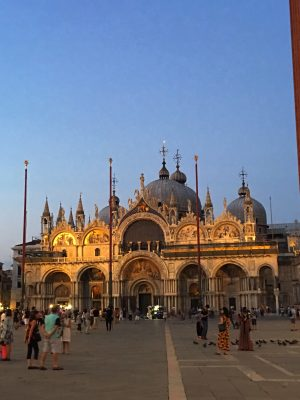 St Mark's Basilica in Venice. If you could fly for free where would you go? Would you fly to Venice?