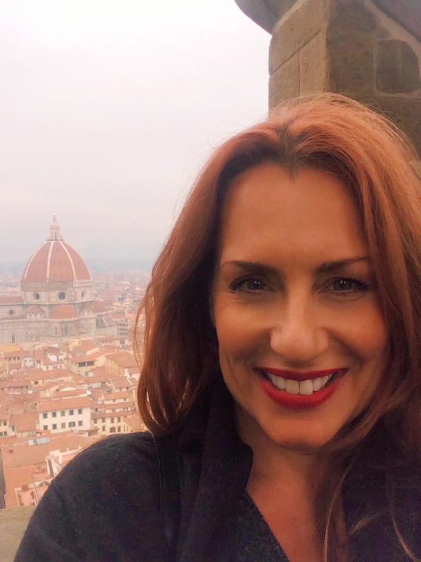 Florence Duome from the tower in Palazzo Vecchio on a hazy December afternoon