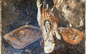 New discoveries in Pompeii. Archaeologists just discovered 2000 year old mosaics in 2 villas being excavated