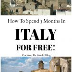 Grottole Basilicata, how to live in Italy for 3 months for free