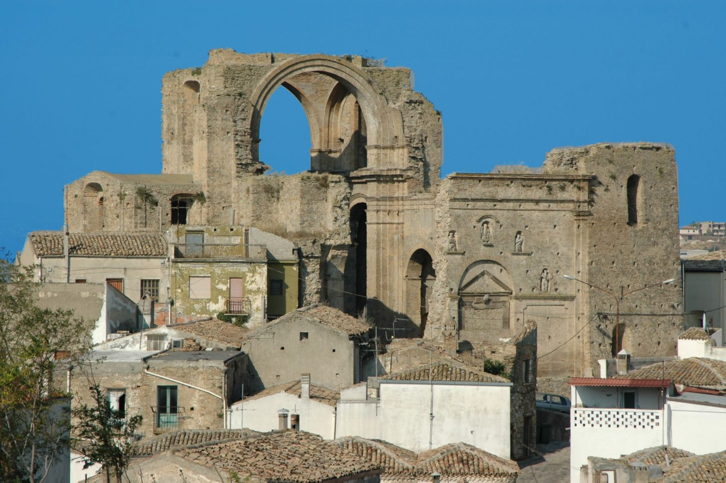Ancient ruins in the southern Italian town of Grottole in Basilicata. Win a 3 month sabbatical in Grottole - live in Italy for free for 3 months!