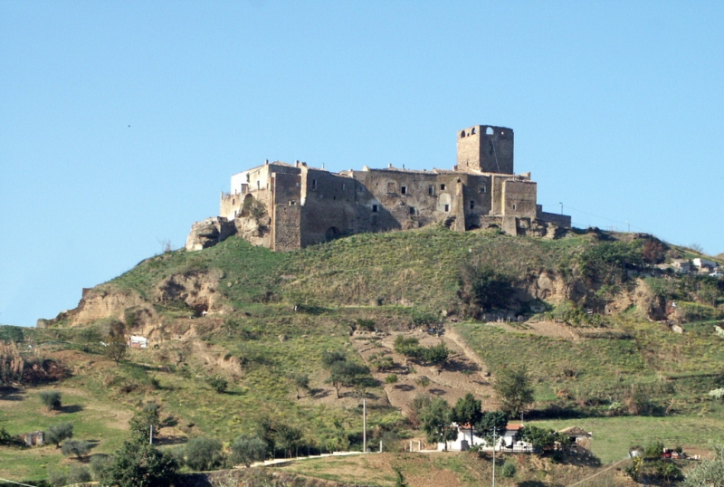Grottole Basilicata castle on the hill.
