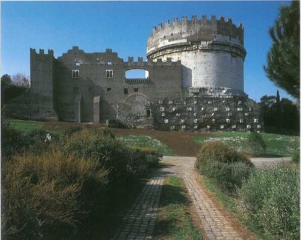 Tomb of Caecilia Matella on the Appian Way in Rome