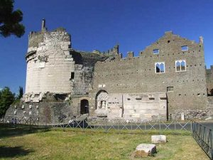 The Cetani castle at the Tomb of Caecilia Metella in Rome