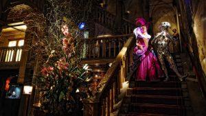 Venice carnival costumes at a masquerade ball