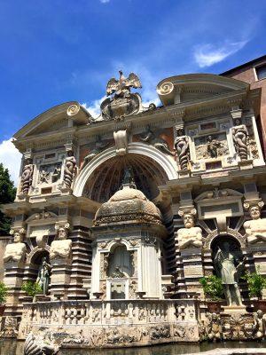 musical clock in the gardens at Villa d'Este in Tivoli