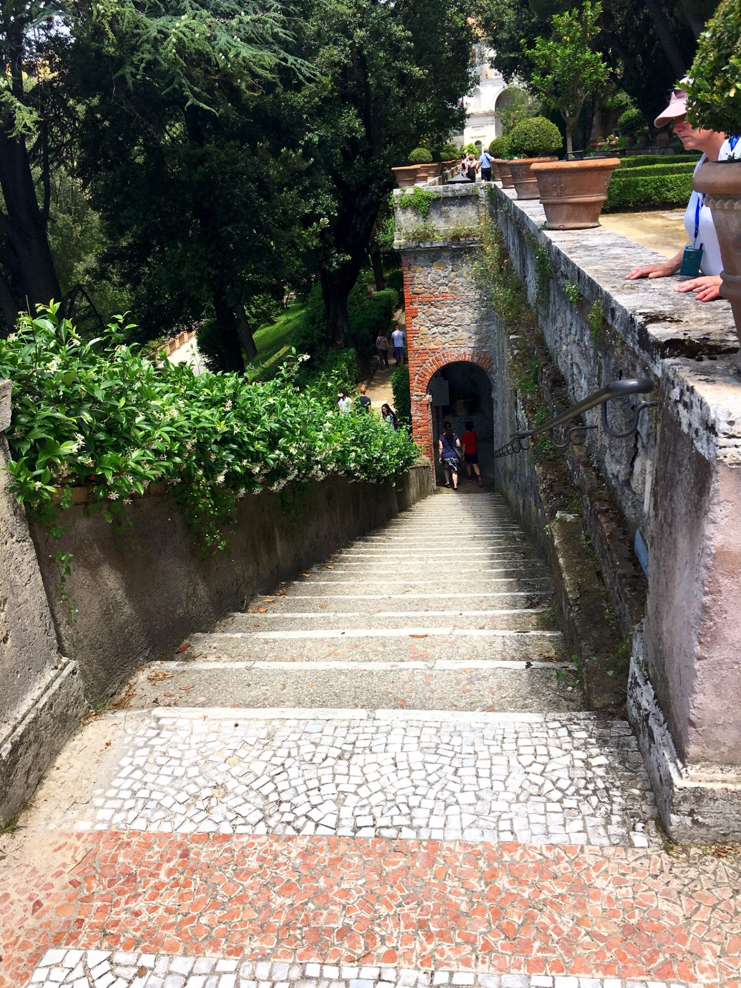 Stairway to the gardens at Villa d'Este in Tivoli