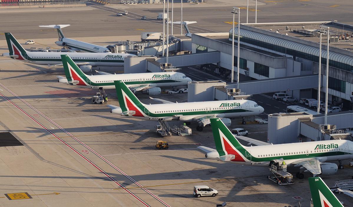 Al Italia Planes at Rome Fiumicino airport