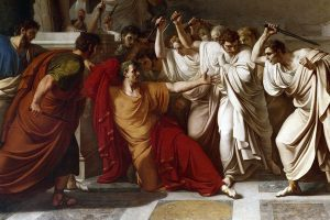 the assassination of Julius Caesar by Vincenzo Camuccini