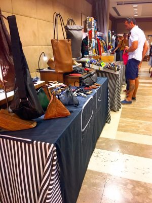 designer leather handbags at the monti market in rome