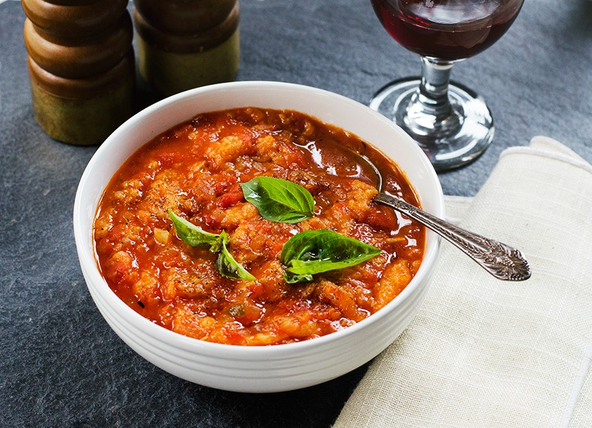 pappa al pomodoro soup is a tuscan specialty