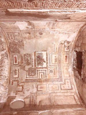 fresco'd ceiling in Nero's Golden Palace in underground Rome
