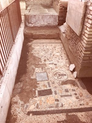 2000 year old mosaic floors in the city beneath rome
