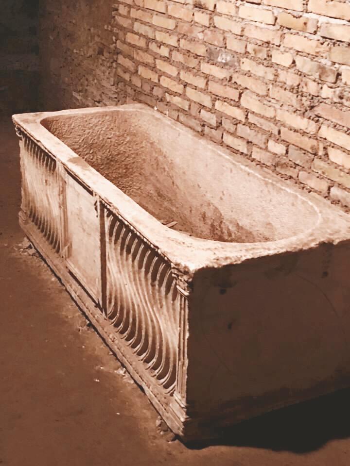 sarcophagus in underground rome