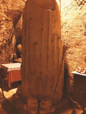 column in teatro pompeo, rome