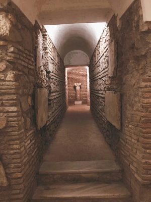 Underground Rome, ruins from 3rd century A.D