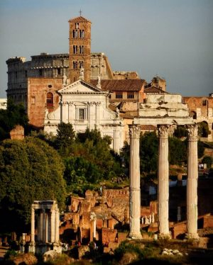 late afternoon in Rome at the Forum