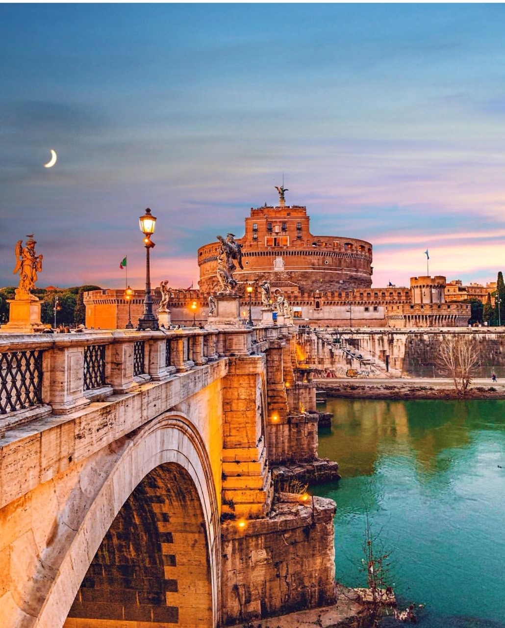 Castel Sant' Angelo at sunset