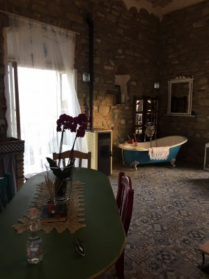 free standing bath in the Mandarin apartment, Orangery Retreat, Basilicata