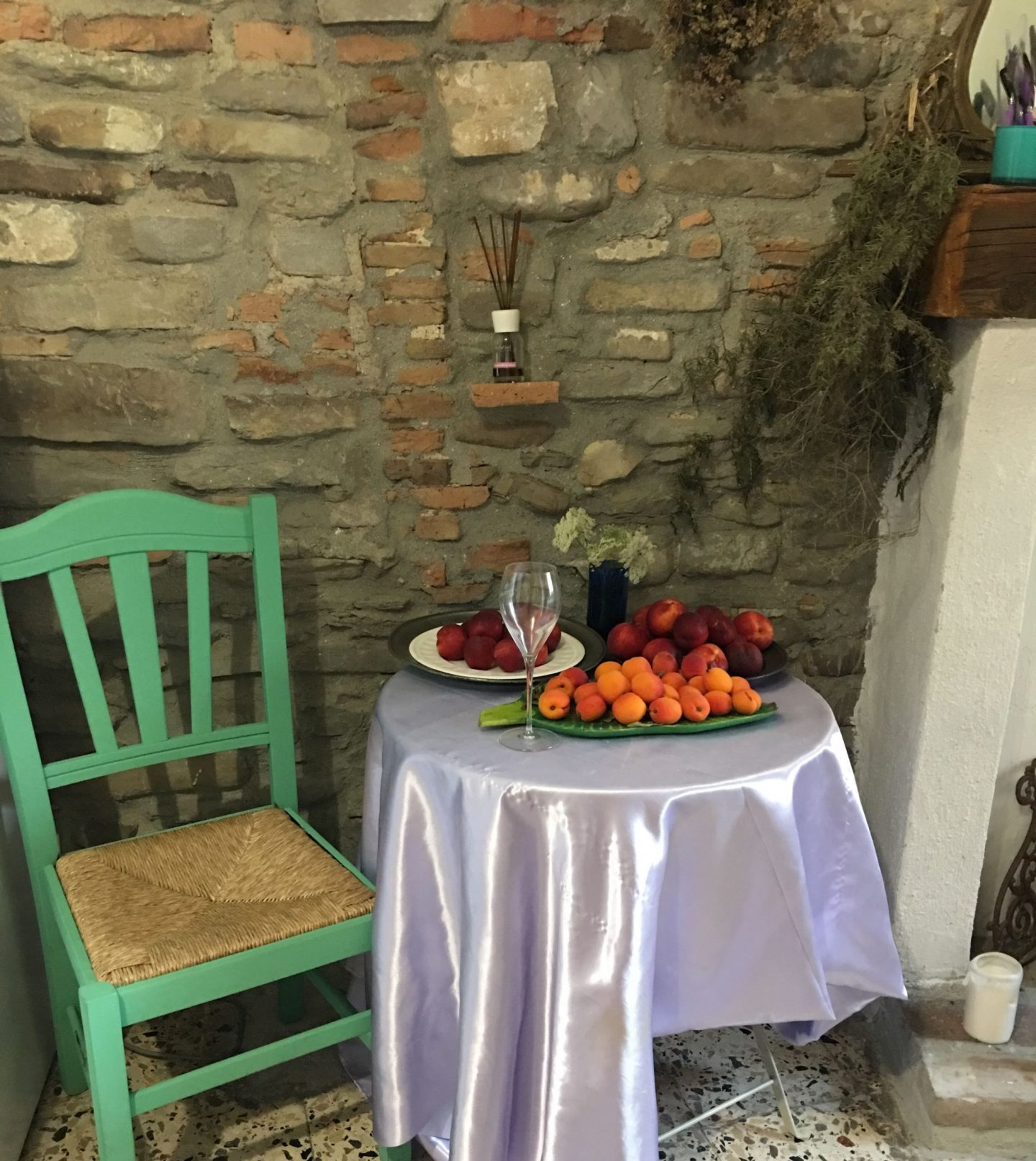 fresh fruit at the Orangery Retreat in Tursi